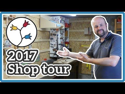 WOODWORKING SHOP LAYOUT – Shop Tour 2017 |DIY workshop ideas