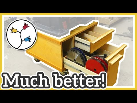 MAKE PLYWOOD DRAWERS for the table saw station –QUICK and EASY
