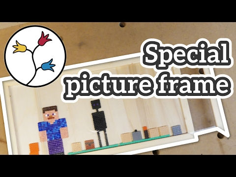 Make a special picture frame – real-life minecraft display