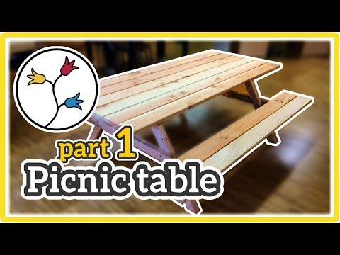 YOU can make this DIY picnic table –How-to (part 1 of 2)