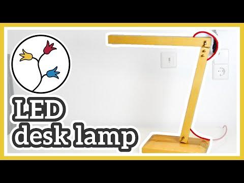 DIY DESK LAMP – MAKE a modern LED DESK LAMP