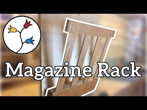 Make a magazine rack out of scraps and bed slats –DIY
