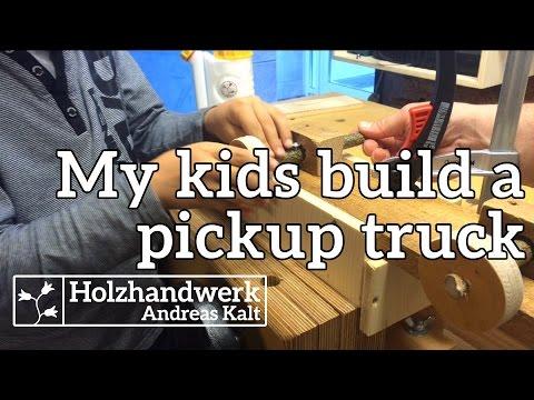 My kids build a pickup truck