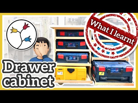 What I learnt building the drawer cabinet