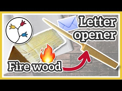 LETTER OPENER WOOD – I USED FIREWOOD to make this DIY letter opener