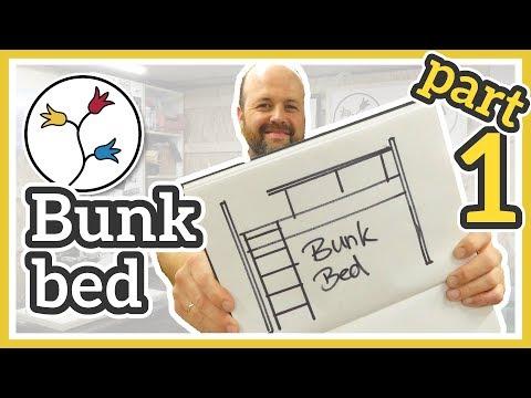 DIY BUNK BED – With play area/desk area underneath (part 1/3)