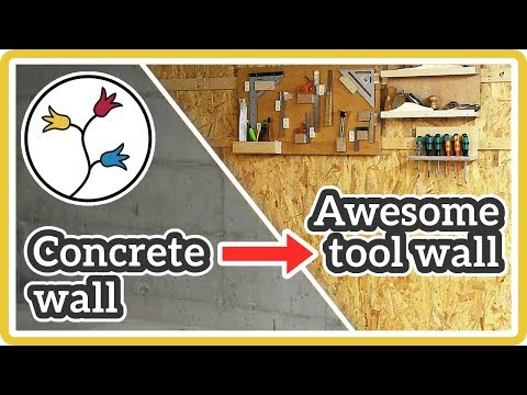 FRENCH-CLEAT WALL –YOU can make flexible tool storage for YOUR woodworking shop