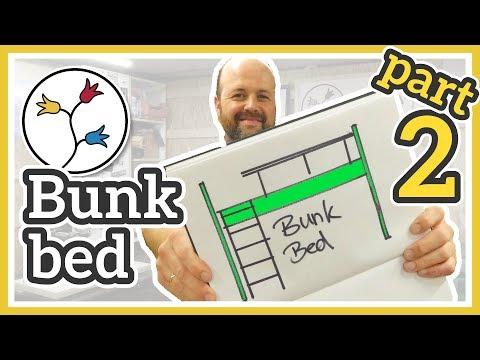 DIY BUNK BED – With play area/desk area underneath (part 2/3)