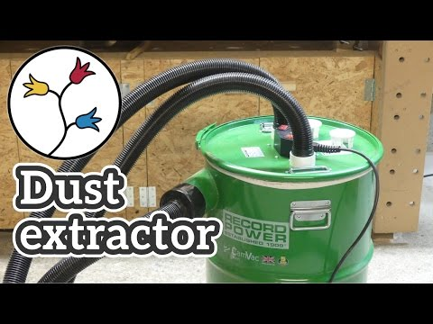Cyclone dust extractor Record Power CGV 386 – Unboxing, Test