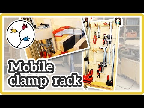 MOBILE CLAMP RACK –french-cleat clamp storage on wheels
