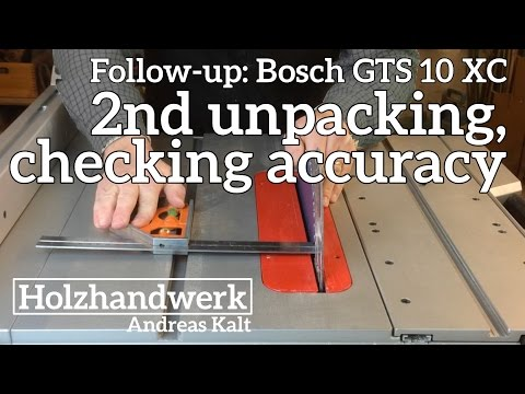 BOSCH GTS 10 XC SETUP – SEE ALL the DETAILS to watch out for.
