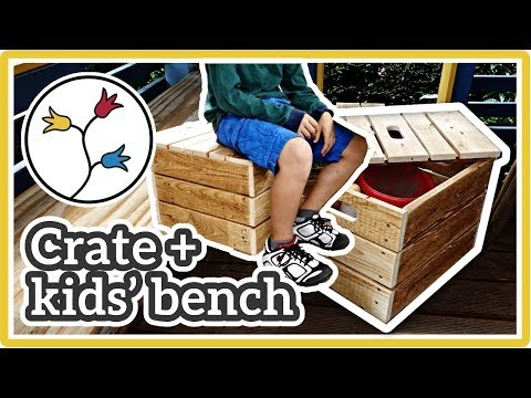 STORAGE CRATE + KIDS' BENCH – Easy DIY storage bench, upcycling