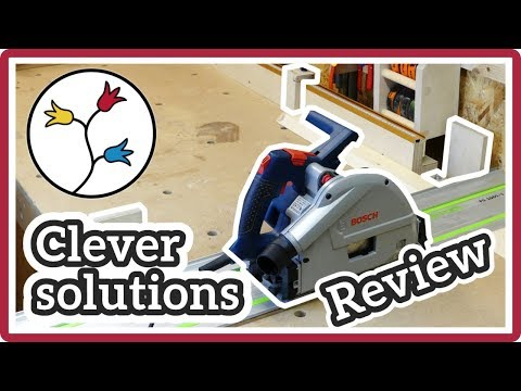 BOSCH GKT 55 GCE – TRACK SAW REVIEW – tips and practical solutions (plunge saw review)