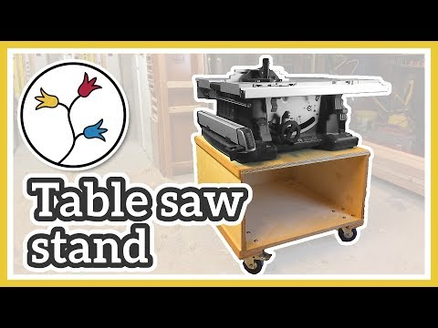 MOBILE TABLE SAW STAND –Make a table saw cart for the BOSCH GTS 10 XC