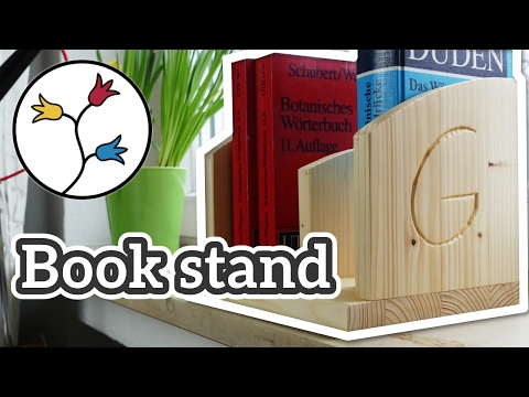 YOU can make this book stand with carved initials – Valentine's Day Maker Challenge