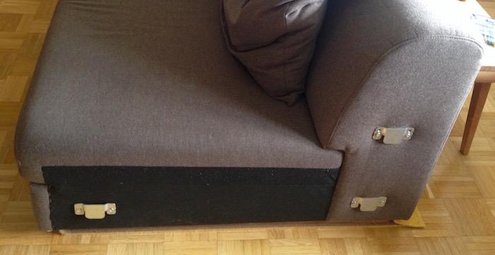 Beschläge an der Couch
