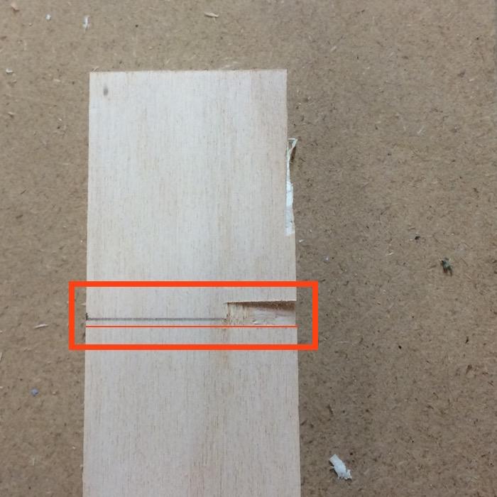 Vergleich Bleistiftmarkierung und Schnitt