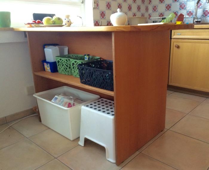 Fertiger Küchentisch mit Unterkonstruktion