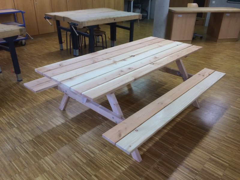 Einen Picknicktisch Bauen Ausfuhrliche Anleitung Mit Videos
