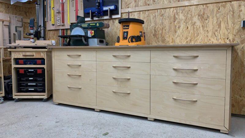 Eine Stabile Werkbank Mit Schubladen Selbst Bauen Holzhandwerk